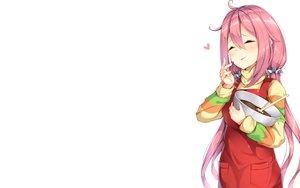 Rating: Safe Score: 50 Tags: blush candy chocolate kagamihara_nadeshiko pink_hair shiero. white yuru_camp User: RyuZU