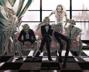Rating: Safe Score: 43 Tags: blonde_hair cigarette couch dress headphones male one_piece qike_xiu sanji short_hair smoking suit sunglasses vinsmoke_ichiji vinsmoke_niji vinsmoke_reiju vinsmoke_yonji User: FormX