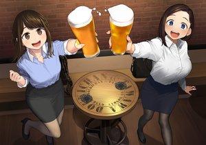 Rating: Safe Score: 51 Tags: 2girls blue_eyes brown_eyes brown_hair drink getsuyoubi_no_tawawa himura_kiseki kouhai-chan_(tawawa) long_hair original pantyhose shirt short_hair skirt yomu_(sgt_epper) User: RyuZU
