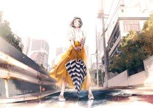 Rating: Safe Score: 71 Tags: building city maeda_mic original scenic short_hair skirt umbrella User: Dreista