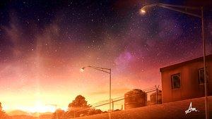 Rating: Safe Score: 36 Tags: alpcmas building industrial nobody original scenic signed sky stars sunset tree User: otaku_emmy