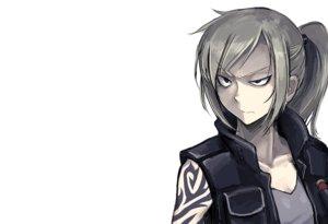 Rating: Safe Score: 116 Tags: blonde_hair gray_eyes hellshock original ponytail suzumi_(hellshock) tattoo white User: TommyGunn