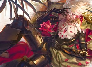 Rating: Safe Score: 30 Tags: all_male aqua_eyes armor blonde_hair bodysuit egawa_akira fate/grand_order fate_(series) flowers karna male short_hair torn_clothes User: otaku_emmy