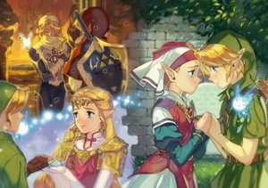 Rating: Safe Score: 28 Tags: armor blonde_hair dress elbow_gloves fairy fire gloves hat headdress instrument juby link_(zelda) long_hair male mask navi necklace pointed_ears princess_zelda sheik short_hair sword the_legend_of_zelda weapon User: otaku_emmy