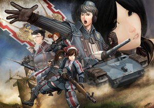 Rating: Safe Score: 35 Tags: alicia_melchiott armor black_eyes black_hair boots brigitte_stark brown_eyes brown_hair combat_vehicle eleanor_varrot faldio_landzaat glasses gloves gray_eyes gray_hair group gun headphones isara_gunther largo_potter male military okita orange_hair short_hair signed uniform valkyria_chronicles weapon welkin_gunther windmill User: anaraquelk2
