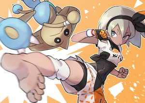 Rating: Safe Score: 29 Tags: barefoot blue_eyes bodysuit dark_skin gazacy_(dai) gloves gray_hair headband hitmontop kick orange pokemon saitou_(pokemon) short_hair shorts wristwear User: otaku_emmy