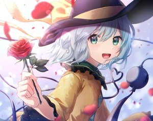 Rating: Safe Score: 41 Tags: close flowers gray_eyes gray_hair hat komeiji_koishi mozuno_(mozya_7) petals rose short_hair touhou User: RyuZU