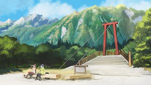 Rating: Safe Score: 99 Tags: 2girls blue_hair drink hat inubashiri_momiji kawashiro_nitori kitsune_(kazenouta) landscape scenic thighhighs touhou tree wolfgirl User: Flandre93