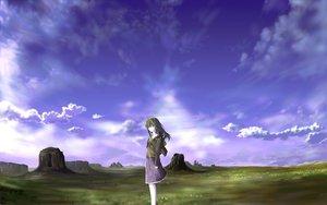 Rating: Safe Score: 28 Tags: grass long_hair scenic skirt sky User: rodri1711