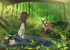 Rating: Safe Score: 88 Tags: animal domo1220 forest glasses sleeping tree User: FormX
