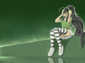 Rating: Safe Score: 97 Tags: cyron_tanryoku green hewsack long_hair original User: luckyluna