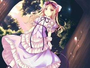 Rating: Safe Score: 49 Tags: avril blonde_hair blush dress game_cg gloves ko~cha long_hair red_eyes ribbons shukufuku_no_campanella windmill_oasis User: Tensa