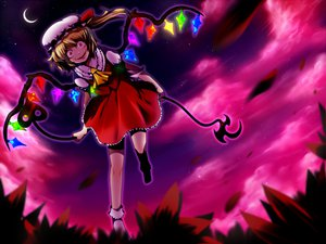 Rating: Safe Score: 18 Tags: blonde_hair flandre_scarlet hat red_eyes touhou vampire weapon wings User: happygestapo