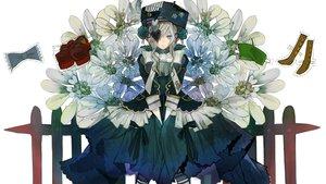 Rating: Safe Score: 22 Tags: dress eyepatch flowers goth-loli hat lolita_fashion ukai_saki User: FormX