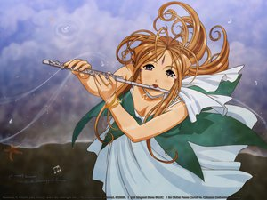 Rating: Safe Score: 10 Tags: aa_megami-sama belldandy flute instrument User: Oyashiro-sama
