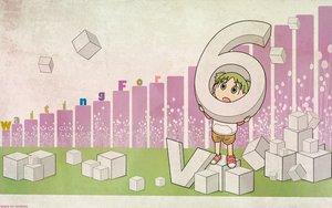 Rating: Safe Score: 29 Tags: green_eyes green_hair koiwai_yotsuba signed yotsubato! User: 秀悟