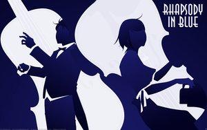Rating: Safe Score: 9 Tags: blue chiaki_shinichi noda_megumi nodame_cantabile silhouette vector User: Oyashiro-sama