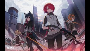 Rating: Safe Score: 29 Tags: arknights croissant_(arknights) exusiai_(arknights) logo sora_(arknights) texas_(arknights) tttanggvl User: Fepple