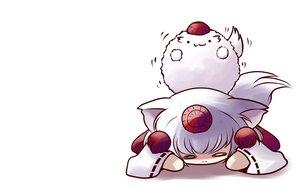 Rating: Safe Score: 35 Tags: animal_ears cat_smile chibi hat inubashiri_momiji tail touhou white_hair wolfgirl yume_shokunin User: SciFi