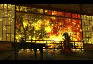 Rating: Safe Score: 181 Tags: autumn ball drink japanese_clothes long_hair nauimusuka original scenic tree User: Flandre93