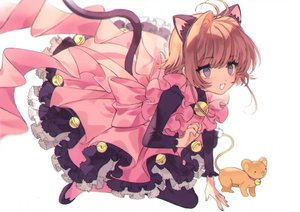 Rating: Safe Score: 46 Tags: animal_ears bell card_captor_sakura catgirl kero kinomoto_sakura lolita_fashion tail yasiromann User: FormX