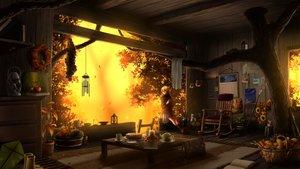 Rating: Safe Score: 74 Tags: autumn blonde_hair cake food juh-juh long_hair original tree User: sadodere-chan