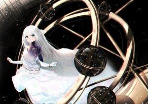 Rating: Safe Score: 45 Tags: dress long_hair original planet polychromatic riannannair white_hair User: BattlequeenYume