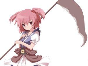 Rating: Safe Score: 74 Tags: machily onozuka_komachi red_eyes red_hair scythe short_hair touhou weapon white User: HawthorneKitty