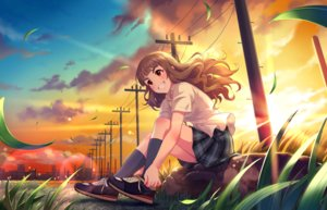 Rating: Safe Score: 43 Tags: annin_doufu building city clouds grass idolmaster idolmaster_cinderella_girls idolmaster_cinderella_girls_starlight_stage kamiya_nao long_hair scenic school_uniform sunset User: luckyluna