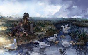 Rating: Safe Score: 42 Tags: 38ban all_male animal bird duck male tagme_(character) touken_ranbu User: RyuZU
