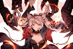 Rating: Safe Score: 46 Tags: braids fire fraux_(granblue_fantasy) granblue_fantasy long_hair magic pollity twintails white_hair yellow_eyes User: BattlequeenYume