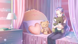 Rating: Safe Score: 41 Tags: bed book gonzz_(gon2rix) long_hair original phone teddy_bear User: BattlequeenYume