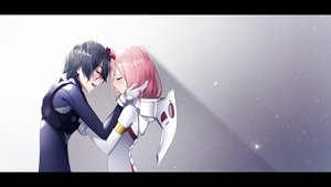 Rating: Safe Score: 59 Tags: black_hair bodysuit darling_in_the_franxx gloves gradient hiro_(darling_in_the_franxx) horns male pink_hair tears the_cold zero_two User: RyuZU