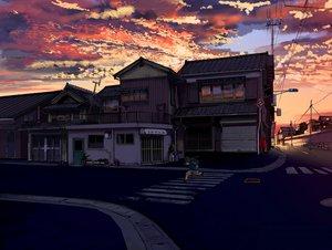 Rating: Safe Score: 120 Tags: all_male building clouds kurono-kuro male original scenic sky sunset User: STORM