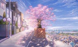 Rating: Safe Score: 54 Tags: building cherry_blossoms city clouds kagumanikusu mirror nobody original petals scenic sky tree User: RyuZU