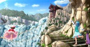 Rating: Safe Score: 42 Tags: animal bird building fairy group inubashiri_momiji kitano_(kitanosnowwhite) lily_white scenic skirt stairs tagme_(character) tatara_kogasa touhou water waterfall wings wolfgirl User: Flandre93