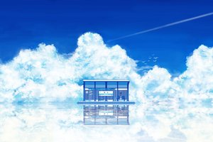 Rating: Safe Score: 241 Tags: amemura_(caramelo) animal bird blue clouds dress hat landscape long_hair original scenic sky summer water User: rodri1711