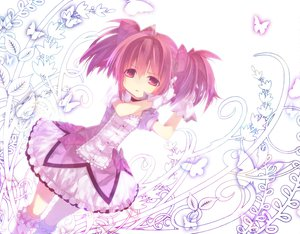 Rating: Safe Score: 41 Tags: butterfly dress gloves kaname_madoka kneehighs mahou_shoujo_madoka_magica pink_eyes pink_hair ribbons short_hair twintails User: HawthorneKitty