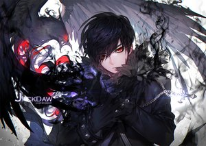 Rating: Safe Score: 100 Tags: all_male animal bird black_hair chain gloves gothic hero_warz jackdaw kawacy male necklace red_eyes short_hair User: luckyluna