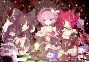 Rating: Safe Score: 68 Tags: animal_ears catgirl kaenbyou_rin komeiji_satori multiple_tails north_abyssor reiuji_utsuho tail touhou User: anaraquelk02