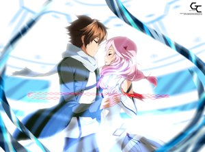 Rating: Safe Score: 64 Tags: guilty_crown ouma_shu yuzuriha_inori User: BoobMaster