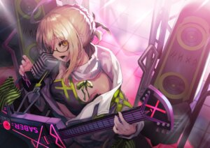 Rating: Safe Score: 33 Tags: akieda artoria_pendragon_(all) blonde_hair fate/grand_order fate_(series) glasses guitar instrument microphone mysterious_heroine_x mysterious_heroine_x_alter navel yellow_eyes User: BattlequeenYume
