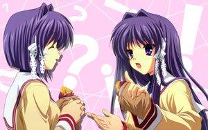 Rating: Safe Score: 11 Tags: 2girls clannad food fujibayashi_kyou fujibayashi_ryou twins User: Oyashiro-sama