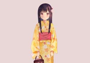 Rating: Safe Score: 55 Tags: aliasing black_hair blush braids gray japanese_clothes long_hair original red_eyes rimo yukata User: otaku_emmy