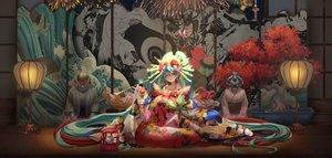 Rating: Safe Score: 54 Tags: breasts cleavage hatsune_miku japanese_clothes jujumaho_(nanigaxila) kimono long_hair twintails vocaloid User: Dreista