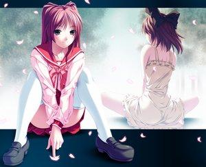 Rating: Safe Score: 106 Tags: bow dress kousaka_tamaki petals rezi seifuku to_heart to_heart_2 User: anaraquelk2