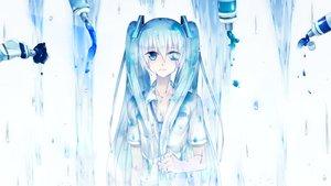 Rating: Safe Score: 31 Tags: aqua_eyes aqua_hair hatsune_miku long_hair sakakidani tears tie twintails vocaloid User: luckyluna