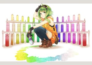 Rating: Safe Score: 142 Tags: boots gloves goggles green_eyes green_hair gumi kei_(k_tmr) long_hair thighhighs vocaloid User: FormX