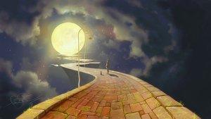Rating: Safe Score: 198 Tags: animal cat clouds fear-sas grass moon night original scenic signed sky stars User: vf.nightcore