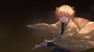 Rating: Safe Score: 10 Tags: agatsuma_zenitsu all_male gradient katana kimetsu_no_yaiba male qie_(25832912) sword weapon User: FormX
